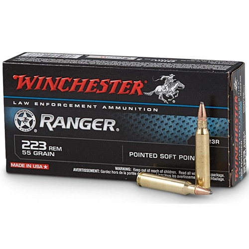 Winchester Ranger Ammunition 223 Remington 55 Grain Pointed Soft Tip - 200 Rounds - CASE ***LIMIT 5 PER ORDER***