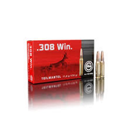 Geco 308 Win 170 Grain Soft Point - 200 Rounds - Brass Case