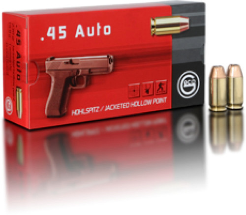 Geco Ammunition 45 ACP 230 Grain Jacketed Hollow Point - 1000 Rounds - CASE