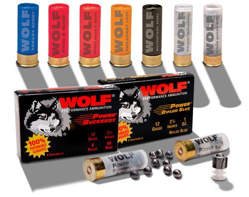 """Wolf  Ammunition 12 Gauge  -  2 3/4"""" - 1   1/8 Oz Slug - 100 Rounds - CASE"""