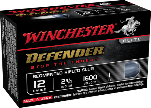"Winchester PDX1 Defender Ammunition 12 Gauge - 2-3/4"" -  1 oz  Segmented Slug  - 100 Rounds - CASE"