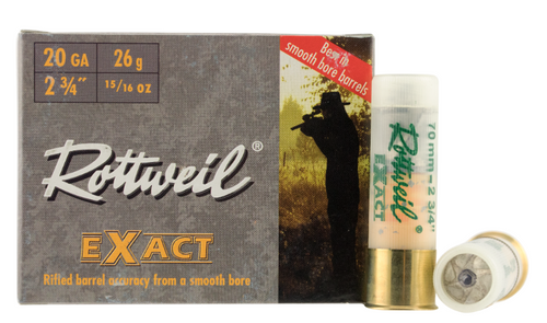 "Rottweil Exact 20 Gauge  - 2 3/4"" - Lead 15/16  - 200 Rounds - CASE"