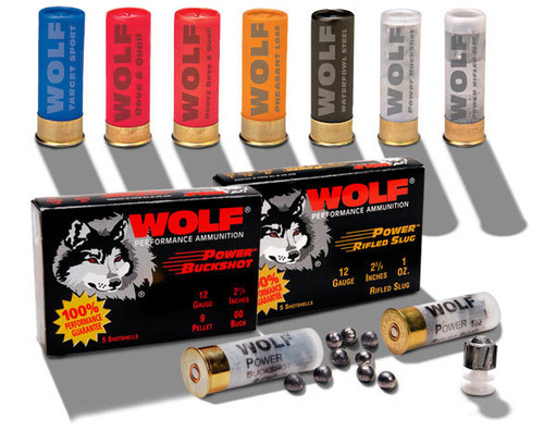 "Wolf  12 Gauge  -  2 3/4"" - 00 Buck - 9 Pellets - 100 Rounds - CASE"
