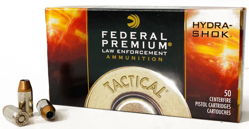 Federal Premium - 380 ACP 90 Grain Hydra-Shok Jacketed Hollow Point - 1000 Rounds - Brass Case