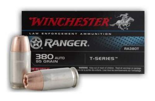 Winchester Ranger Ammunition 380 Auto 95 Grain Ranger T-Series - 500 Rounds - CASE