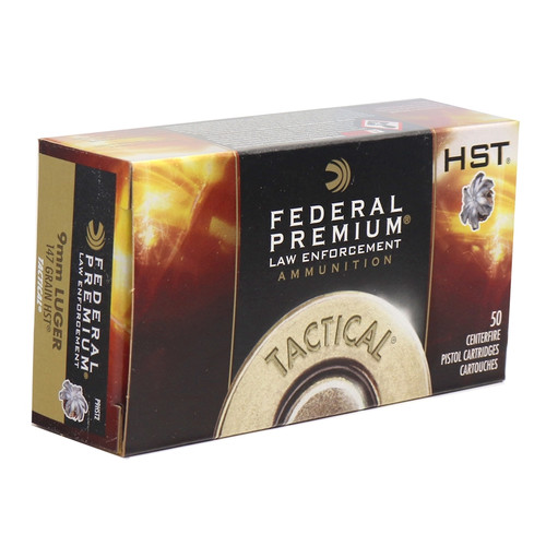 Federal Premium Ammunition 9mm Luger 147 Grain HST Jacketed Hollow Point- 1000 Rounds - CASE