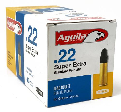 Aguila 22 Long Rifle - 40 Grain - Standard Velocity - 5000 Rounds - Brass Case