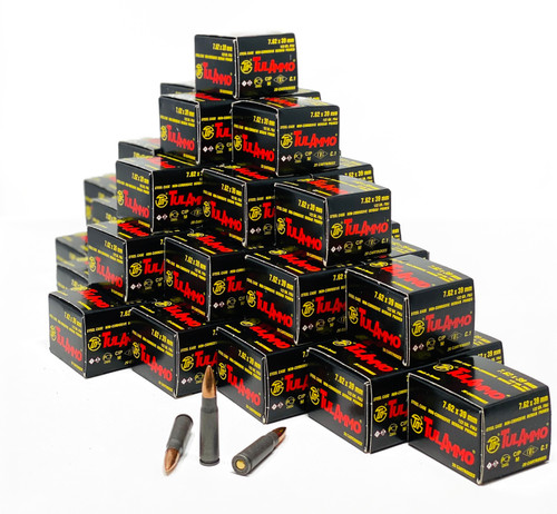Tula Ammunition 7.62x39 - 122 Grain  - Full Metal Jacket - 1000 Rounds - CASE