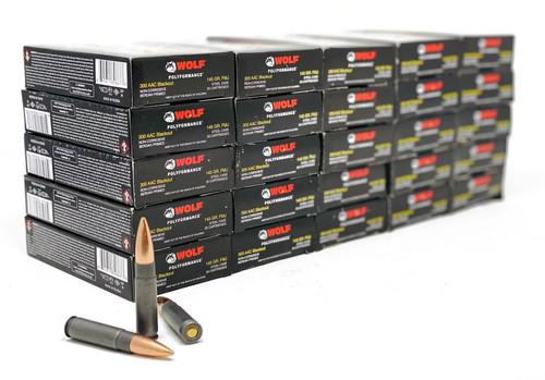 Wolf  300 AAC Blackout - 145 Grain - Full Metal Jacket - 500 Rounds - Steel Case