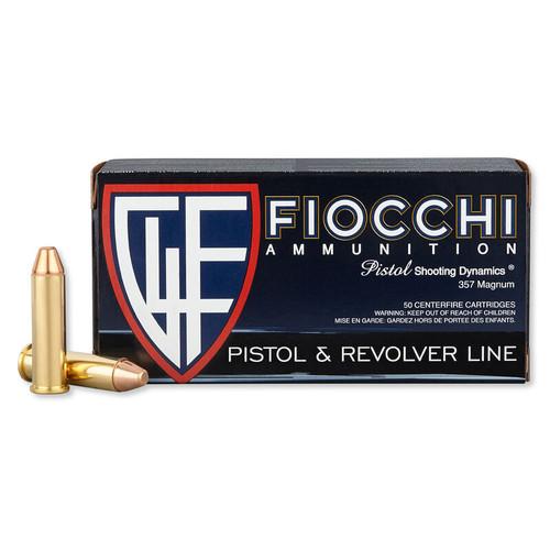 Fiocchi 357 Magnum - 142 Grain Full Metal Jacket - 1000 Rounds - Brass Case