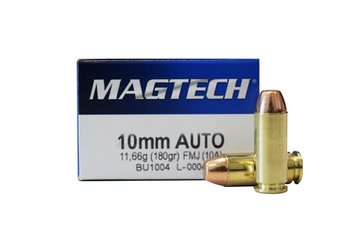 Magtech 10 mm - 180 Grain - Full Metal Jacket - 250 Rounds W/ Ammo Can - Brass Case