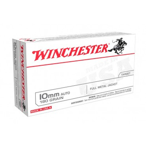 Winchester Ammunition 10 MM 180 Grain Full Metal Jacket - 500 Rounds - Case