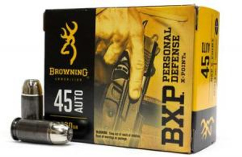 Browning  45 Auto 230 Grain BXP X-Point - 200 Rounds - Brass Case
