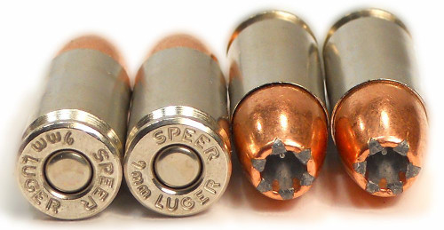 Speer 9 mm 147 Grain - Gold Dot - Jacketed Hollow Point - 350 Rounds - Brass Case