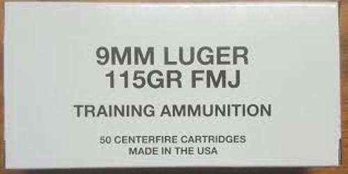 CCI 9 mm 115 Grain Full Metal Jacket - 1000 Rounds - Brass Case