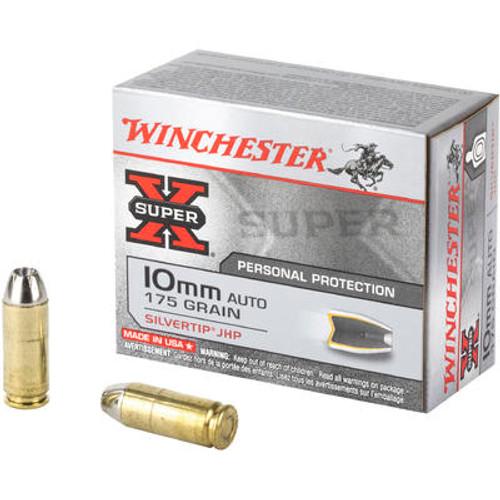 Winchester 10 mm - 175 Grain Silvertip Hollow Point - 200 Rounds - Brass Case