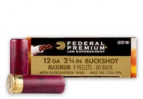 "Federal Premium Ammunition 12 Ga - 2 3/4"" Buckshot - 00 Buck 9 Pellets - 50 Rounds"