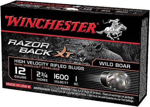 """Winchester Razor Boar Ammunition 12 Ga - 2 3/4"""" Rifled Slug - 11/8 oz. Segmenting Slug - 100 Rounds - Case"""