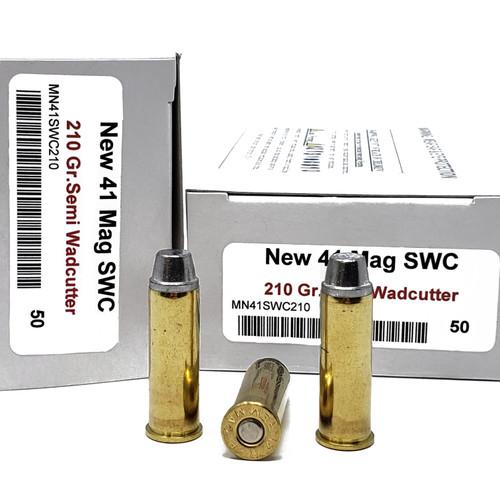 Miwall Factory New Ammunition 41 Rem Magnum - 210 Grain Semi Wad Cutter - 250 Rounds