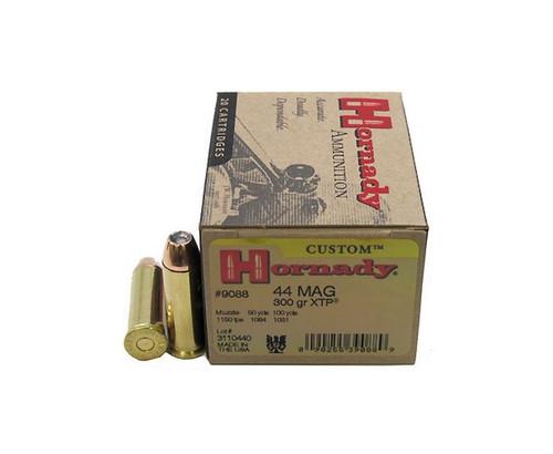 Hornady - 44 Rem Magnum - 300 Grain XTP Hollow Point - 200 Rounds - Brass Case