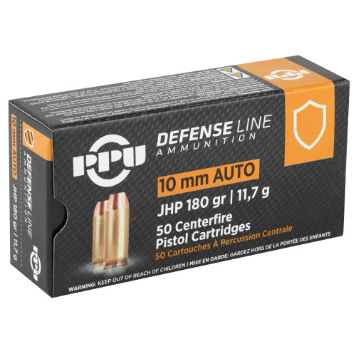 Prvi Partizan - 10 MM - 180 Grain Jacketed Hollow Point - 500 Rounds - Brass Case