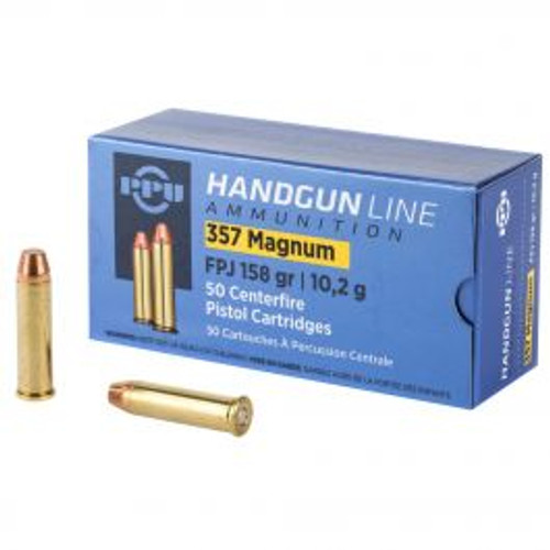 Prvi Partizan Ammunition 357 Magnum - 158 Grain Flat Point Jacket - 250 Rounds W/ Ammo Can