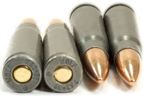 Wolf Performance Ammunition 7.62x39 MM - Copper Full Metal Jacket - 100 Rounds W/ Ammo Can - Steel Case