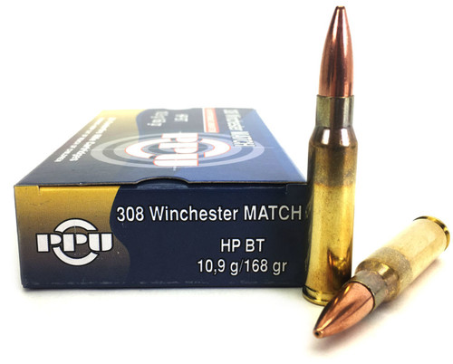 Prvi Partizan Ammunition 308 Win Match - 168 Grain Hollow Point Boat Tail - 100 Rounds W/ Ammo Can