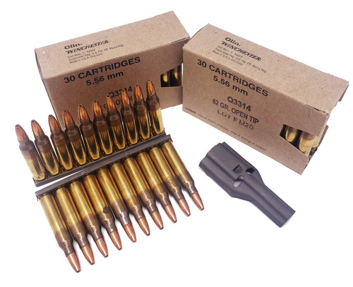 Winchester Ammunition 5.56x45 MM - 62 Grain Open Tip - 450 Rounds W/ Ammo Can