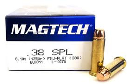 Magtech Ammunition 38 Special - 125 Grain Full Metal Jacket - 250 Rounds W/ Ammo Can - Brass Case