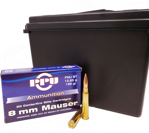 Prvi Partizan - 7.92x57mm Mauser (8mm Mauser) - 198 Grain Full Metal Jacket - 100 Rounds W/ Ammo Can