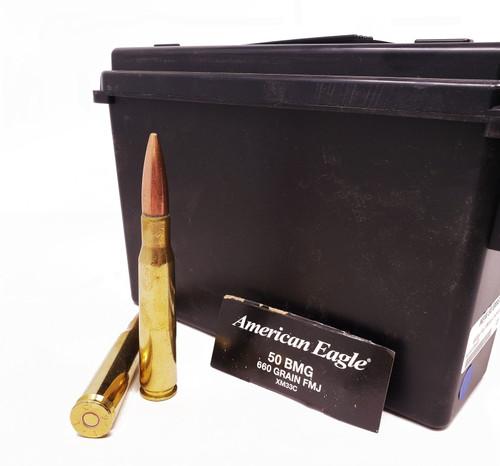 Federal American Eagle Ammunition 50 BMG - 660 Grain Full Metal Jacket - 20 rounds W/ Ammo Can