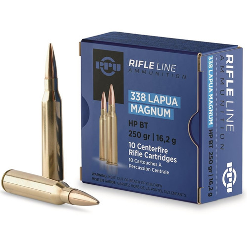 Prvi Partizan Ammunition - 338 Lapua Magnum - 250 Grain Hollow Point Boat Tail - 50 Rounds W/ Ammo Can