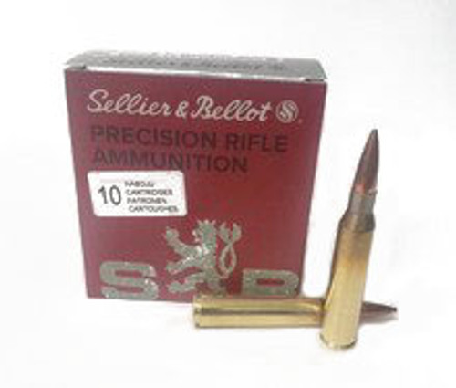 Sellier & Bellot Ammunition 338 Lapua Magnum - 300 Grain Hollow Point Boat Tail - 50 Rounds W/ Ammo Can