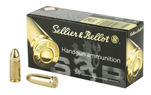 Sellier & Bellot - 9 MM- 124 Grain - Full Metal Jacket - 1000 - Brass Case