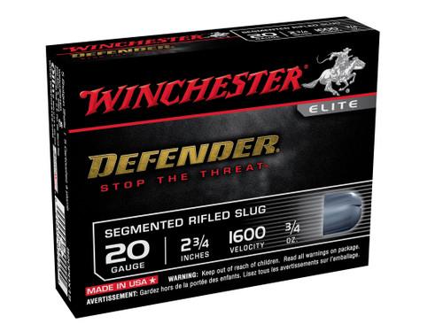 "Winchester Ammunition - 20 Gauge PDX Defender - 2 3/4 "" - 3/4 Oz. Segmenting Slug - 100 Rounds - Case"