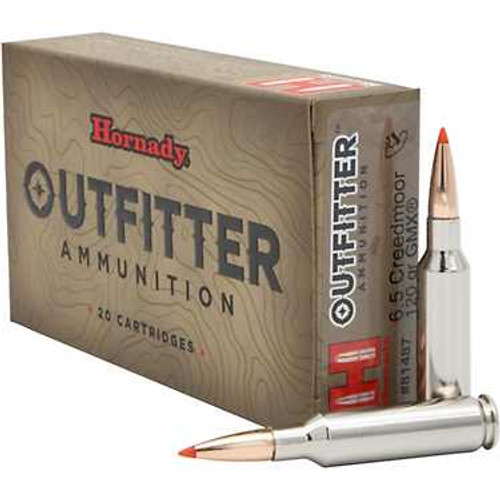 Hornady Outfitter Ammunition 6.5 Creedmoor - 120 Grain GMX Lead Free - 200 Rounds - Case