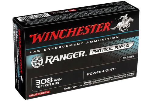 Winchester Ranger Ammunition - 308 Winchester - 150 Grain Power Point - 200 Rounds - Case