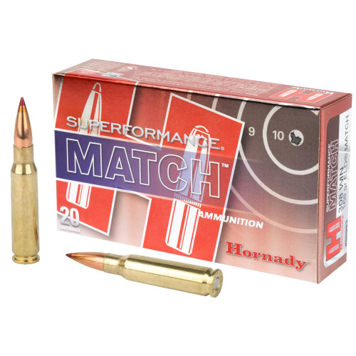 Hornady Superformance Match Ammunition - 308 Win - 168 Grain ELD Match - 200 Rounds - Case