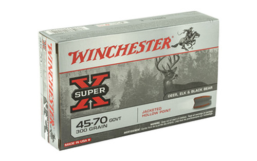 Winchester Super-X Ammunition  45-70 GOVT - 300 Grain Jacketed Hollow Point - 200 Rounds - Case