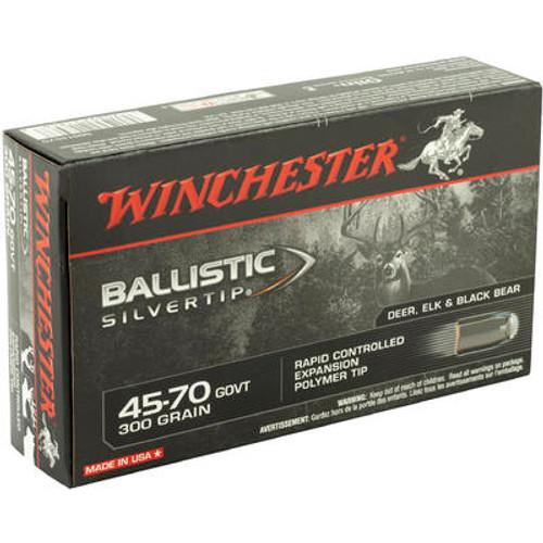 Winchester Ballistic Silvertip Ammunition - 45-70 GOVT - 300 Grain Polymer Tip - 200 Rounds - Case