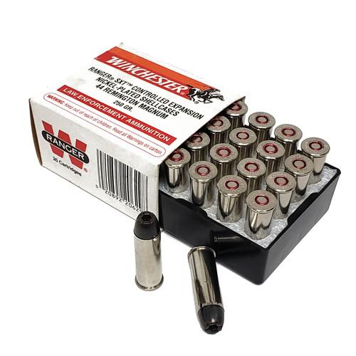 Winchester Ranger Ammunition - 44 Rem Magnum with Black Talon Projectile - 250 Grain SXT - 20 Rounds Limited Quantity