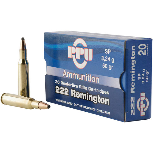 Prvi Partizan Ammunition - 222 Remington - 50 Grain Soft Point - 100 Rounds W/ Free Ammo Can