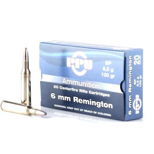 Prvi Partizan Ammunition - 6 MM Remington - 100 Grain Soft Point - 100 Rounds