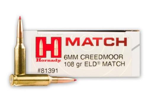 Hornady Match Ammunition - 6 MM Creedmoor - 108 Grain ELD Match - 100 Rounds W/ Free Ammo Can