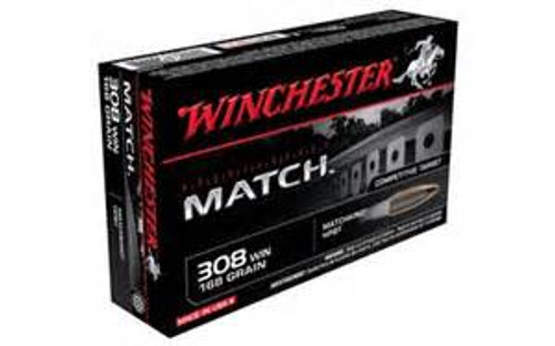 Winchester Match Ammunition - 308 Winchester - 168 Grain Hollow Point Boat Tail - 200 Rounds - Case