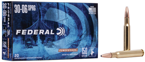 Federal Ammunition - 30-06 Springfield - 150 Grain Soft Point - 200 Rounds - Case
