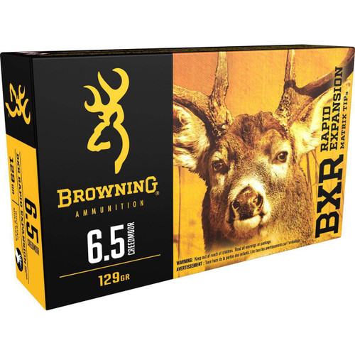Browning Ammunition - 6.5 Creedmoor - 129 Grain BRX Rapid Expansion - 200 Rounds - Case
