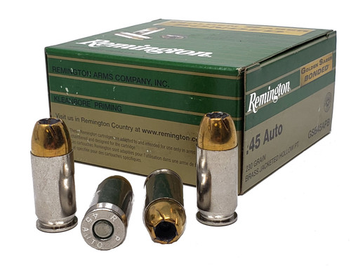Remington Golden Saber Bonded Ammunition 45 Auto 230 Grain Brass Jacketed Hollow Point - 75 Rounds W/ Ammo Can