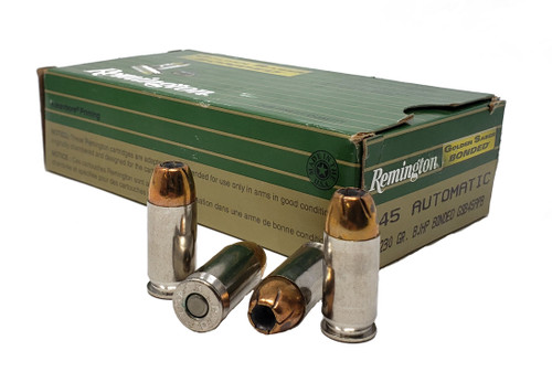 Remington Golden Saber Bonded Ammunition - 45 Auto - 230 Grain Brass Jacketed Hollow Point Bonded - 100 Rounds W/ Ammo Can